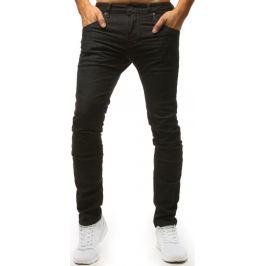 BASIC Černé džíny s hnědým prošíváním (ux1488) Velikost: 30