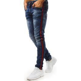 BASIC Modré džíny s červeným pruhem (ux1501) Velikost: 28