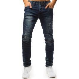 BASIC Modré džíny s distress detaily (ux1541) Velikost: 28
