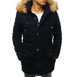 BASIC Pánská modrá zimní bunda s kožíškem (tx2469) Velikost: XL