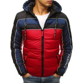 BASIC Červená zimní prošívaná bunda (tx2486) Velikost: M
