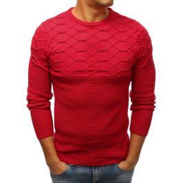BASIC Červený svetr s originálním vzorem (wx1208) Velikost: M