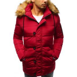 BASIC Prošívaná červená zimní bunda (tx2516) Velikost: S