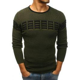 BASIC Pánský zelený svetr (wx1222) Velikost: M