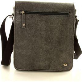 DAAG Šedá kožená taška  JAZZY RISK 166 černá (dg97a) Velikost: univerzální