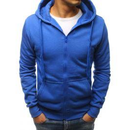 BASIC Pánská mikina s kapucí modrá (bx2393) Velikost: M