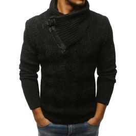 BASIC Pánský černý svetr (wx1233) Velikost: 2XL