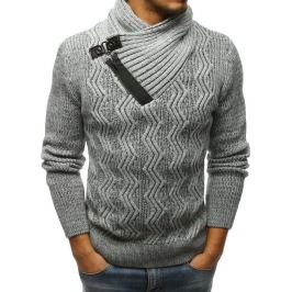 BASIC Pánský šedý svetr (wx1234) Velikost: M