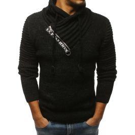 BASIC Pánský černý svetr (wx1236) Velikost: M