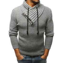 BASIC Pánský šedý svetr (wx1238) Velikost: M