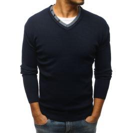 BASIC Tmavě modrý pánský svetr (wx1135) Velikost: M