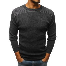 BASIC Pánský antracitový svetr bez potisku (wx1168) Velikost: M