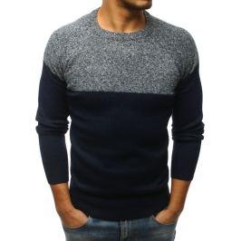 BASIC Pánský modrý svetr bez potisku (wx1172) Velikost: M