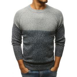 BASIC Pánský šedý svetr bez potisku (wx1174) Velikost: M