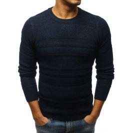 BASIC Tmavě modrý pánský svetr (wx1260) Velikost: M