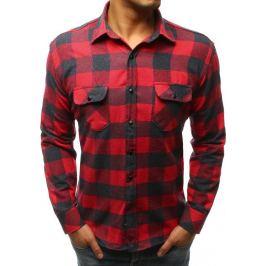BASIC Červeno-modrá kostkovaná košile (dx1610) Velikost: 2XL