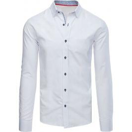 BASIC Bílá elegantní košile (dx1582) Velikost: L
