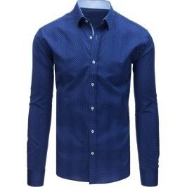 BASIC Elegantní modrá košile s puntíky (dx1583) Velikost: XL