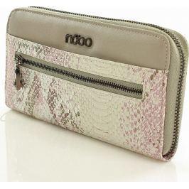 Šedá peněženka NOBO se zvířecím vzorem Np0820b velikost: univerzální, odstíny barev: šedá