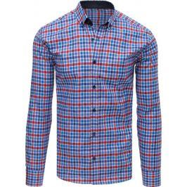 BASIC Modro-červená kostkovaná košile (dx1606) Velikost: L