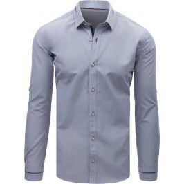 BASIC Pánská elegantní šedá košile (dx1616) Velikost: M