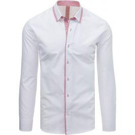 BASIC Pánská elegantní bílá košile (dx1617) Velikost: M
