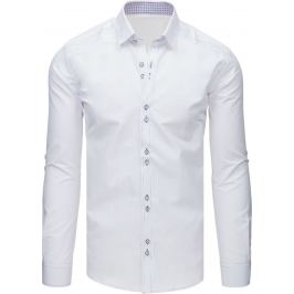 BASIC Pánská elegantní bílá košile (dx1621) Velikost: M
