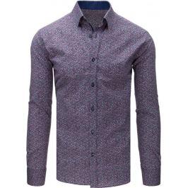 BASIC Pánská šedá košile se vzorem (dx1671) Velikost: L