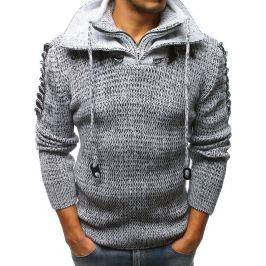 BASIC Pánský bílý pletený svetr (wx1265) Velikost: M