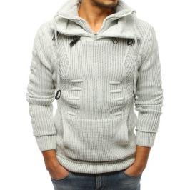 BASIC Pánský smetanový pletený svetr (wx1268) Velikost: M