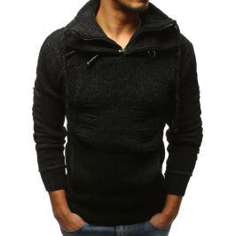 BASIC Pánský černý pletený svetr (wx1269) Velikost: M