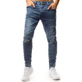 BASIC Pánské modré džínové kalhoty (ux1556) Velikost: 28