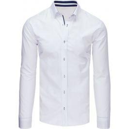 BASIC Pánská bílá košile se vzorem (dx1659) Velikost: XL