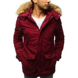 BASIC Pánská bordó zimní bunda (tx2542) Velikost: L