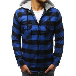 BASIC Modrá kostkovaná košile (dx1695) Velikost: S