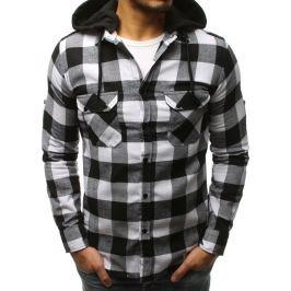BASIC Černá kostkovaná košile (dx1696) Velikost: S