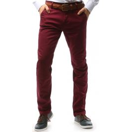 BASIC Pánské bordové kalhoty (ux0748) Velikost: 30