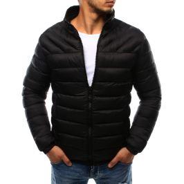 BASIC Černá pánská prošívaná bunda bez kapuce (tx1718) velikost: 2XL, odstíny barev: černá