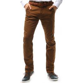 BASIC Pánské hnědé kalhoty (ux1581) Velikost: 30