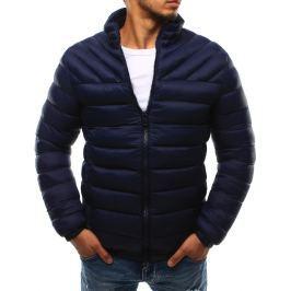 BASIC Modrá pánská prošívaná bunda bez kapuce (tx1719) velikost: 2XL, odstíny barev: modrá