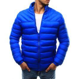 BASIC Modrá pánská prošívaná bunda bez kapuce (tx1720) velikost: 2XL, odstíny barev: modrá