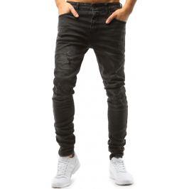 BASIC Černé pánské džíny s oděrkami (ux1594) Velikost: 31