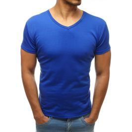 BASIC Pánské modré triko (rx2587) velikost: 2XL, odstíny barev: modrá