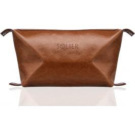 SOLIER Kosmetická taška pro muže (SK01 BROWN) Velikost: univerzální