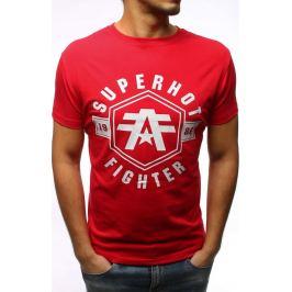 BASIC Pánské červené tričko s potiskem (rx2978) Velikost: M