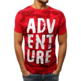 BASIC Pánské červené tričko s potiskem (rx2982) Velikost: M