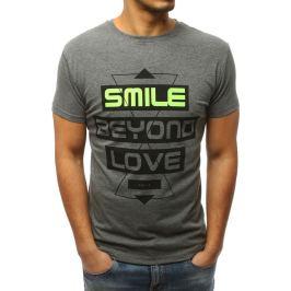 BASIC Antracitové tričko smile  (rx3063) Velikost: M