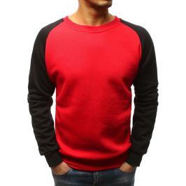 BASIC Červená mikina - černé rukávy (bx3806) Velikost: M