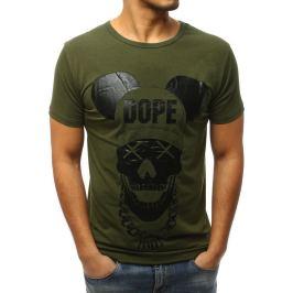 BASIC Zelené tričko s potiskem (rx3057) Velikost: M