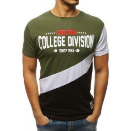 BASIC Zelené pánské tričko s potiskem (rx3134) Velikost: M